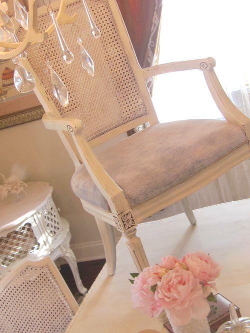 Chair velvet on table