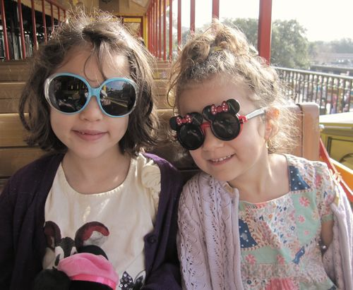 Disney girls on train