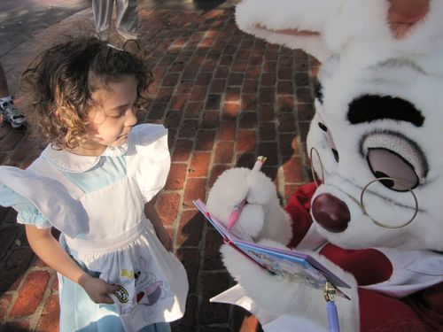 Disney F. with White Rabbit