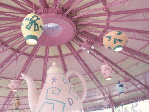 Disney under the teacup bigtop