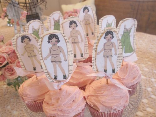 Doll party cupcakes