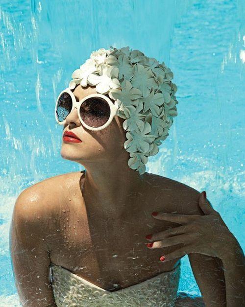 Swim cap beauty